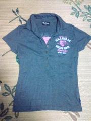 RealBvoiceグレー×ピンク 半袖Tシャツ 新品ムラスポ 激安