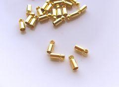 カツラ/コードエンド20個D(内径2�o)ゴールド