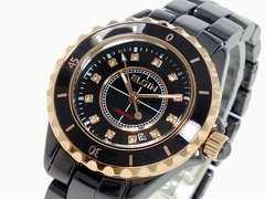 送料無料!エルジン セラミック 腕時計 FK1377C-B ブラック