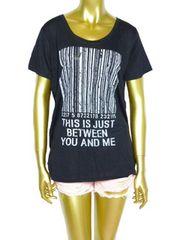 新品タグ付きバッククロス編ゆるカワゆったりTシャツ