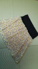 大きいサイズ♪リバーシブル?花柄♪可愛いスカート