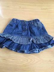 美品!CHILD CHAMPフリル&バックプリントが可愛いデニムスカート