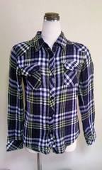 レイルズチェックシャツコットン100%SX