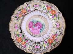 1891手塗りオールドノリタケプレート*お皿*メープルリーフ
