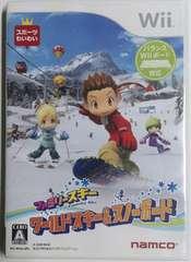 (Wii)ファミリースキー ワールドスキー&スノーボード☆バランスWiiボード対応♪即決アリ♪