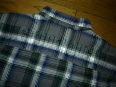 GOODENOUGHグッドイナフ背ロゴチェックシャツL薄手長袖