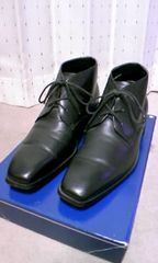GIANNI VALENTINO レザービジネスシューズ 靴 24.5cm 黒色 リクルート 日本製