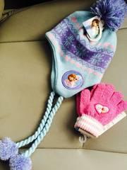 新品格安!《アナ雪》ボンボンフリンジニット帽&手袋