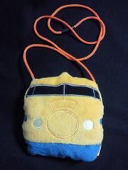 鉄道 JR 0系 新幹線 ドクターイエロー 財布 ポシェット 柔らか バッグ