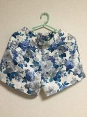 ショートパンツ☆花柄☆ブルー☆ホワイト