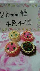 薔薇のせ姫系ウェディングケーキ26�o4色4個