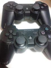 SONY PS3デュアルショック3コントローラー ブラック2個セット 破損あり 送料無料Y