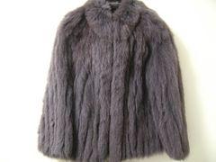 世界最高ブランドSAGA本物FOXフォックス.レアカラー.グレーシルバー毛皮コート.11号