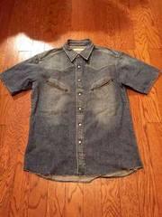 asanoha デニム シャツ ウエスタン 古着 裏原 日本製 レア 刺繍