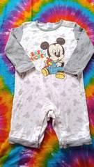 Disney★ミッキーマウスが可愛い♪長袖ロンパース†90