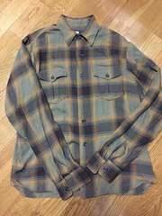 新同美品!ラッツ!チェックシャツ!長袖!茶色!Mサイズ!