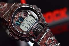 29万GショックDesigner 仕立てRed Lab Diamondカスタム時計
