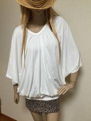 新品*L.A ドルマンTシャツ*ゆる可愛*カットソー ホワイト