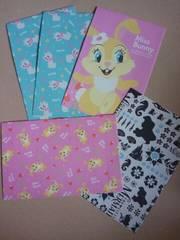 未使用バラ売りレターセット封筒のみ『マリーちゃん・ミスバニー他』5枚セット