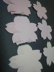 クラフトパンチコメントカードに桜(さくら・サクラ)ピンク系3色30枚卒業アルバム