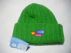 wb672 ROXY ロキシー ウール ニット帽 ビーニー 緑