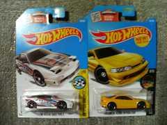 HW '16 USカード ドリフト グレッディ180SX タイプX 白 アキュラ  インテグラGSR 黄