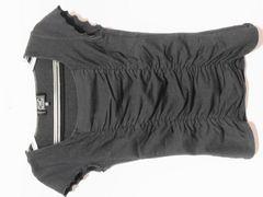美品クードシャンス\8275シャーリングカットソー黒日本製ピンダイ