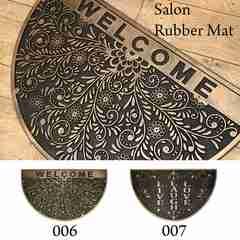 半円 ゴム製 サロン ラバー マット 玄関マット RBMT0607