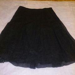 コムサイズム*チャコールグレーフレアースカート