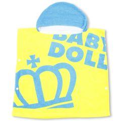 新品BABYDOLL☆フード付き ポンチョ タオル プール ベビードール