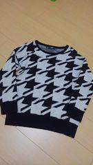 HAREハレ/黒×白星柄ニット/Sサイズ/セーター/チョキチョキ RAGEBLUE