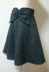 セシルマクビー☆大きなリボンが可愛いスカート♪黒グレー