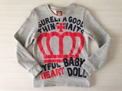 BABY DOLL☆トレーナー☆120☆グレー