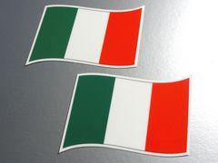 w2 イタリア国旗ステッカー2枚set☆シール☆