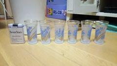 和風 花柄グラス 6個 美品