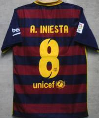 新品☆イニエスタ☆バルセロナ☆赤紺M8番半袖N横☆スペイン代表