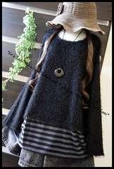 ◆新品◇4L◇裾BDシャギーニットプルオーバー♪大きいサイズ