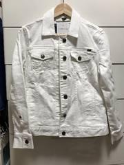 新品 Gジャン デニムジャケット ホワイト 白 レディースL