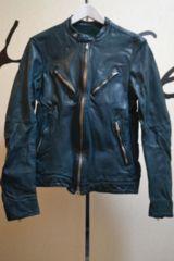 バックラッシュ ドイツカーフ製品染 レザーライダースジャケット