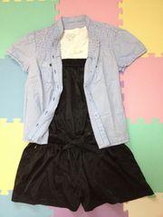 moussyベアロンパース、Tシャツ、袖パフスリシャツ☆3点セット