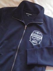 ジャックローズ†Wジップ胸ロゴ背プリント黒トラックJKT:4(M位
