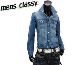 新品 デニムジャケット Gジャン カジュアル ブルー LL XL