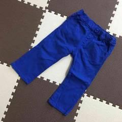 ミキハウスホットビスケッツ☆カラーパンツ☆ブルー☆80cm