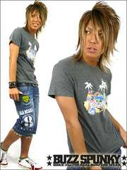 BUZZSPUNKY(バズスパンキー)ParadiseスプレーTシャツM