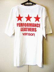 ◆vanson◆バンソン◆バックプリント/ワッペン◆Tシャツ◆ライダース◆