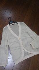 【即決】サイレントワ-ス◆メッシュ編み上質カーデ