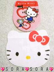 【キティ】可愛いトイレマット&カバー洋式2点セット�B