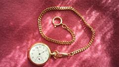 ☆NON貴重金属製☆【懐中時計の鎖 金色】鎖のみです! B