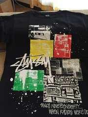 ステューシー半袖Tシャツ★新品同様黒Sサイズ