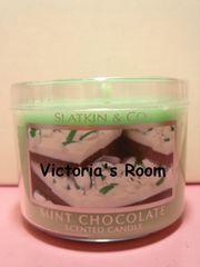 Bath&BodyWorksミントチョコレートアロマキャンドルミニサイズチョコミント/スイーツ